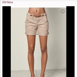 Cute khaki cuffed lowrise shorts